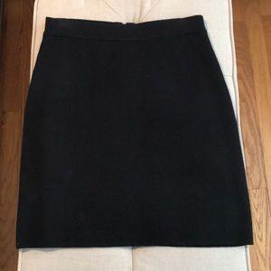 EUC Loft black skirt